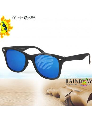 Gafas de Sol WAYFARER Planas AZUL con Funda. Sunglasses VIPER UV400 BLUE