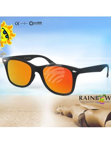 Gafas de Sol WAYFARER Planas Naranja con Funda. Sunglasses VIPER UV400 ORANGE