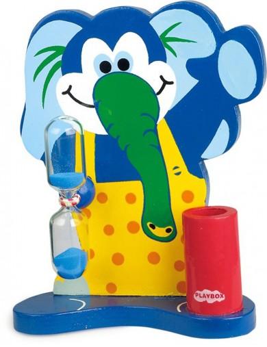 Reloj de arena para cepillarse los dientes Elefante. Toothbrushing Clock LEGLER 4686 Decoración infantil