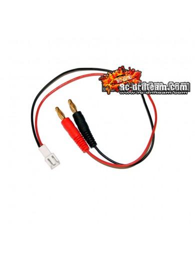 Cable para Cargador con Conector Banana a Molex (Micro 1/18) , Charger Cable HRC9116 Conectores, Cables y Adaptadores RC
