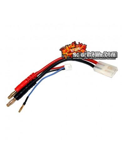 Cable para Baterías LiPo 2S, conector Tamiya. Incluye Conector de Balance HRC9151 Conectores, Cables y Adaptadores RC