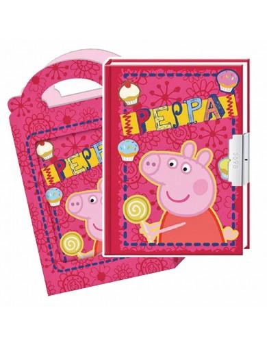 Diario Peppa Pig, con Llave 38928 Otros Juguetes