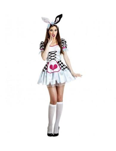 Disfraz de Alicia Conejita Poseida. Halloween, carnaval, costumeDisfraces Adultos