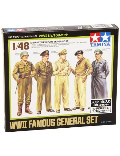 Set de Generales Famosos TAMIYA 32557 TAMIYA 32557 Maquetas Tanques, figuras y otros 2ª Guerra Mundial