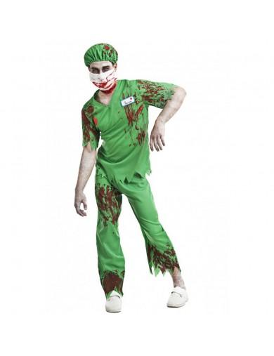 Disfraz de Enfermero Zombie Halloween, Carnaval. Doctor ZombieDisfraces Adultos