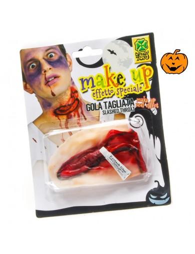 Cicatriz Garganta Cortada, Halloween, Carnaval. Slashed ThroatAccesorios Disfraces y Maquillajes