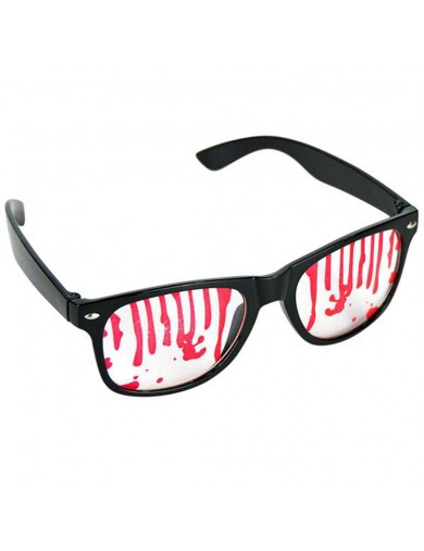 Gafas ensangrentadas Halloween, Carnaval. Scary blood stained glassesAccesorios Disfraces y Maquillajes