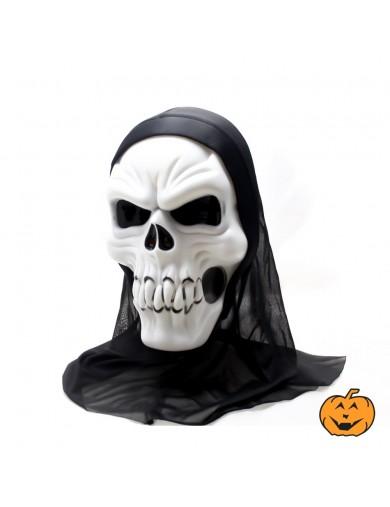 Mascara Esqueleto con capucha. Halloween, Carnaval. Scary Skeleton Mask costumeAccesorios Disfraces y Maquillajes
