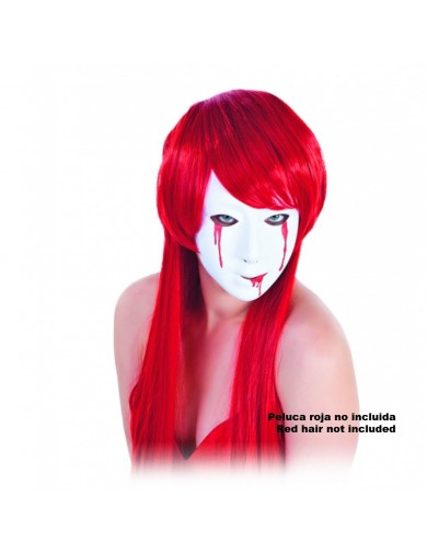 Careta Asesina Halloween, Carnaval. Bloody Woman MaskAccesorios Disfraces y Maquillajes