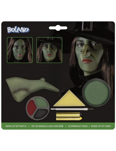 Kit Maquillaje de Bruja, Halloween, Carnaval. Make Up Kit WitchAccesorios Disfraces y Maquillajes