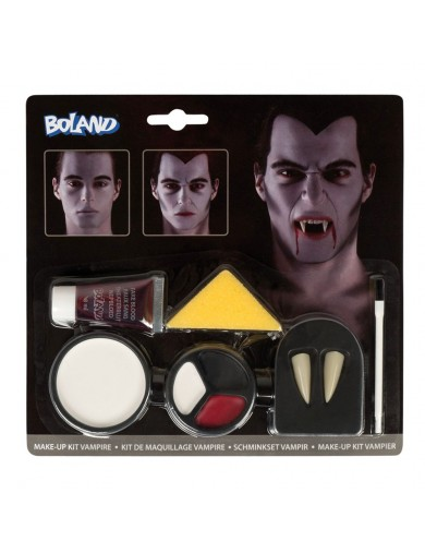 Kit Maquillaje de Vampiro, Halloween, Carnaval. Make Up Kit VampireAccesorios Disfraces y Maquillajes