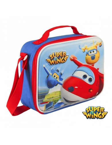 Bolsa porta Merienda SUPER WINGS, Térmica. Lunch Bag Insulated Cool 14340 Primera Infancia