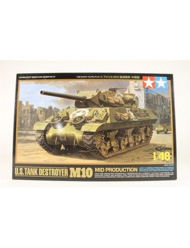 Tanque Americano M10 Version Intermedia (MAQUETAS TAMIYA 32519). Tank Destroyer Military Model Kit TAMIYA 32519 Maquetas Tanq...