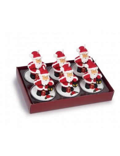 """Velas """"Papá Noel"""" Decoración Navidad. Tealights """"Santa Claus"""" LEG 2446 Artículos Navideños"""