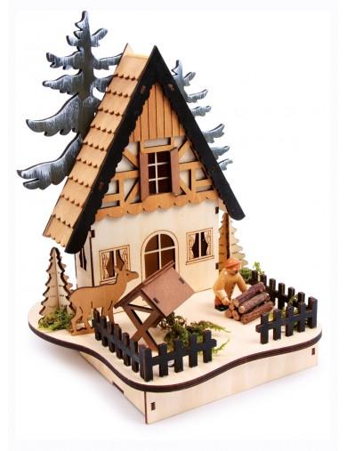 """Lámpara """"Casita del bosque"""", Escena navideña. Lamp """"Forest-Hut"""" LEG 6714 Artículos Navideños"""