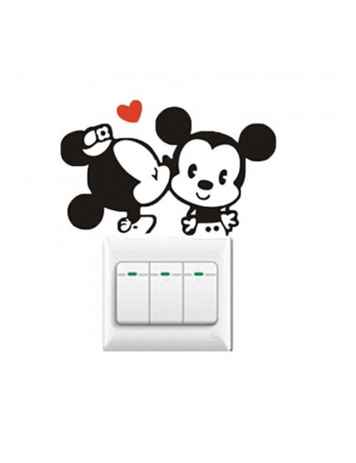 Vinilo Interruptor luz pareja Ratones. Light switch vinyl sticker decal bedroom Mouse VINMOUS Vinilos Decorativos, Stickers