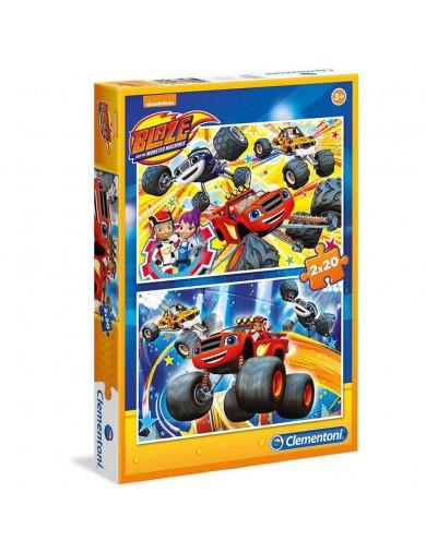 Puzzles BLAZE y los Monster Machines 2x20 piezas 70237 Puzzles y Rompecabezas