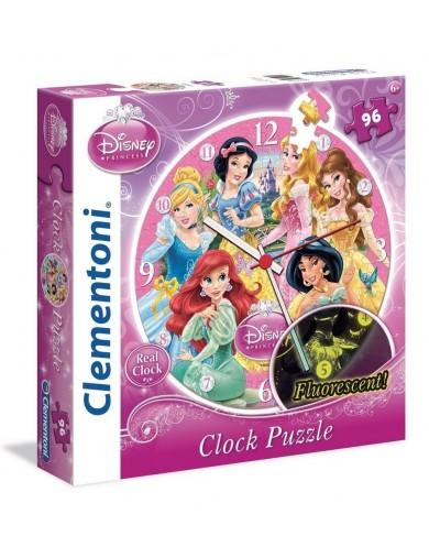 Puzzle Reloj Clementoni Princesas Disney de 96 Piezas 23020 Puzzles y Rompecabezas