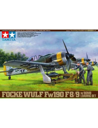 Avión FOCKE-WULF FW 190 F-8/9 y Equipo de carga de bomba (TAMIYA 61104). Aircraft Model Kit TAMIYA 61104 Maquetas Aviones de ...