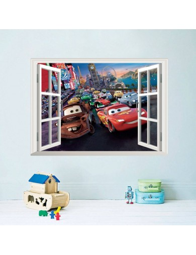 Vinilos Decorativos 3D Ventana Disney Cars. Wall Stickers Vinyl Decal ZYPA-W019-NN Vinilos Decorativos, Stickers