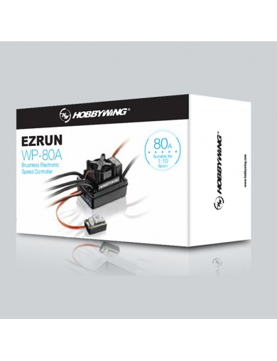 Variador Brushless Waterproof, EzRun WP 80A ESC HW010390 Variadores RC