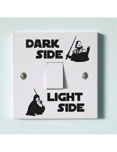 Vinilo Interruptor luz Star Wars. Light switch vinyl sticker decal bedroom Darth Vader, Luke Skywalker VINSTAR Vinilos Decora...