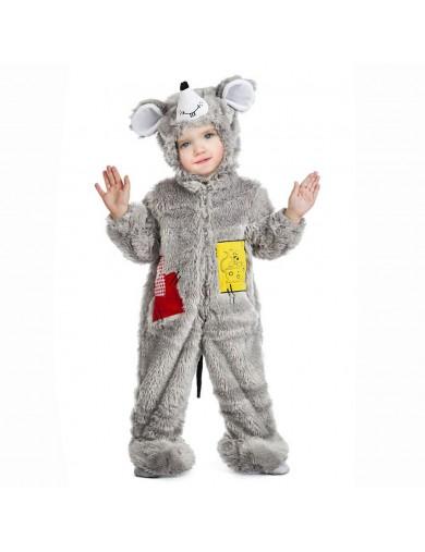 Disfraz de Ratón peluche, Para Bebé. Halloween, Carnaval. Cuddly Mouse, Costume for BabiesDisfraces Infantiles