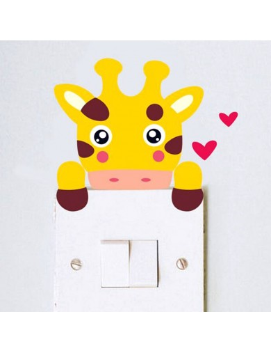 Vinilo Jirafa Interruptor luz. Light switch vinyl sticker decal bedroom giraffe VINJIRAFA Vinilos Decorativos, Stickers