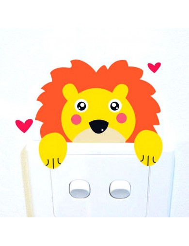 Vinilo León Interruptor luz. Light switch vinyl sticker decal bedroom Lion VINLeon Vinilos Decorativos, Stickers