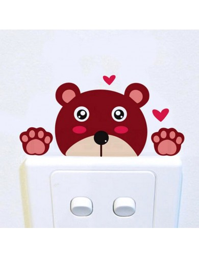 Vinilo Oso Interruptor luz. Light switch vinyl sticker decal bedroom Bear VINOso Vinilos Decorativos, Stickers
