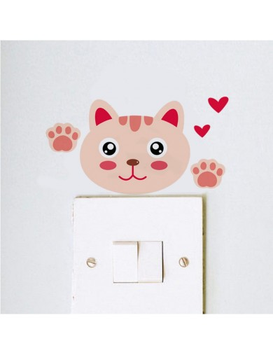 Vinilo Interruptor luz simpático gatito. Light switch vinyl sticker decal bedroom cat VINGAT3 Vinilos Decorativos, Stickers