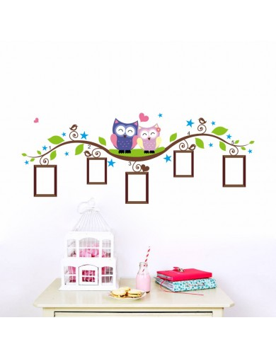 Vinilos Decorativos Buhos con Marcos para Fotos. Owls Wall Stickers Vinyl Decal Bedroom ZYPA-1021-NN Vinilos Decorativos, Sti...