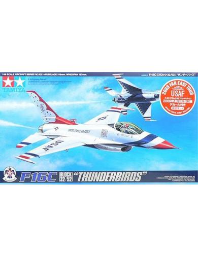 "Maqueta F-16C ""Thunderbirds"" Block 32/52 TAMIYA 89799. Aircraft Model Kit TAMIYA 89799 Maquetas Aviones de Guerra"