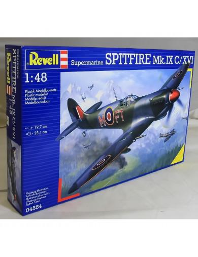Maqueta Spitfire MK.IX/XVI (REVELL 04554). Aircraft Model Kit REVELL  04554 Maquetas Aviones de Guerra