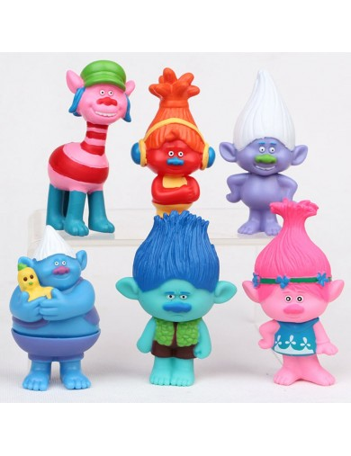 Trolls Dreamworks 6 Figuras para decorar tartas, jugar. Figures Toy Cake Toppersgar. Figures Toy Cake Toppers LOTTROLLS2 Deco...