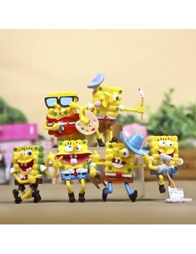 6 Figuras Bob Esponja para decorar, jugar. SpongeBob Figures Toy Cake Toppers LOTESPONJA Decoración Fiestas