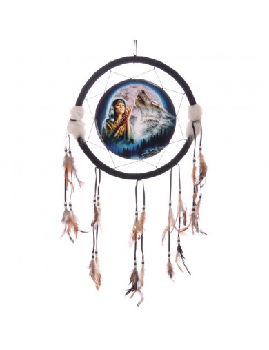 Atrapasueños Lobo solitario 33cm. Decorative Dreamcatcher Wolf Maiden DCP02X Decoración Interior y Regalos