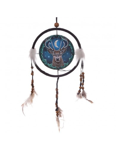 Atrapasueños 16cm El Ciervo Emperador de Lisa Parker. Decorative Dreamcatcher The Emperor Stag DCPA06V Decoración Interior y ...