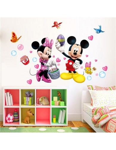 Vinilos Decorativos Mickey y Minnie Mouse. Wall Stickers Vinyl Decal QT10638 Vinilos Decorativos, Stickers