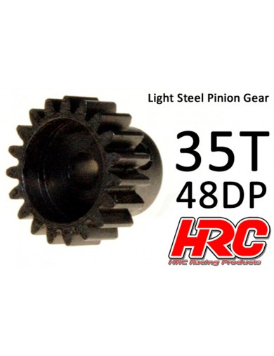 PIÑON 35T, Pitch 48dp para Coches RC (HRC74835). Pinion Gear Steel - Light HRC 74835 Piñones y Coronas RC