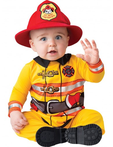 Disfraz de Bombero Para Bebés de 6 a 12 meses. Halloween, Carnaval. Fireman Costume for BabiesDisfraces Infantiles