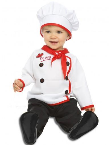 Disfraz de Cocinero, Para Bebés de 6 a 12 meses. Halloween, Carnaval. Chef Costume for BabiesDisfraces Infantiles