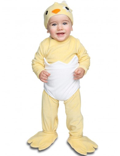 Disfraz de Pollito en el cascarón Para Bebés de 6 a 12 meses. Halloween, Carnaval. Chick Costume for BabiesDisfraces Infantiles