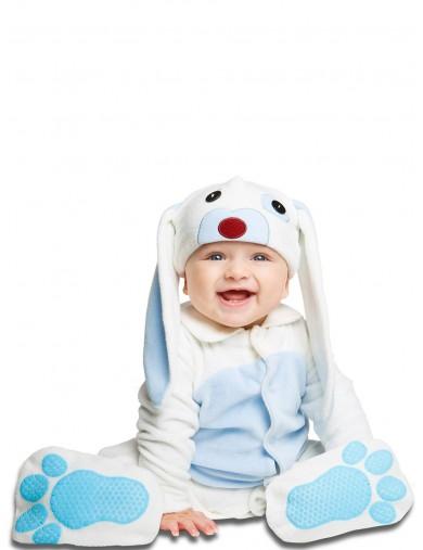 Disfraz de Conejo Azul Orejón Para Bebés de 0 a 6 meses. Halloween, Carnaval. Rabbit Costume for BabiesDisfraces Infantiles