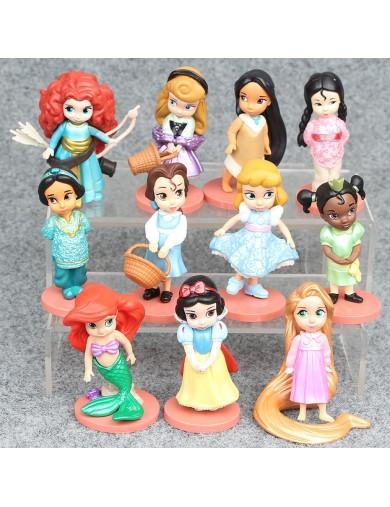 11 Figuras Princesas Disney. Mulan, Blancanieves, Pocahontas, Rapunzel, etc LIH6929 Decoración Fiestas