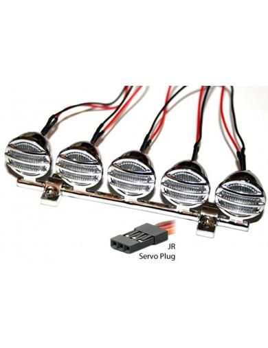Kit de luces CRAWLER / MONSTER TRUCK RC 1/10 con barra de Luces para techo o parachoques (HRC8721) HRC8721 Kit de Luces y vin...