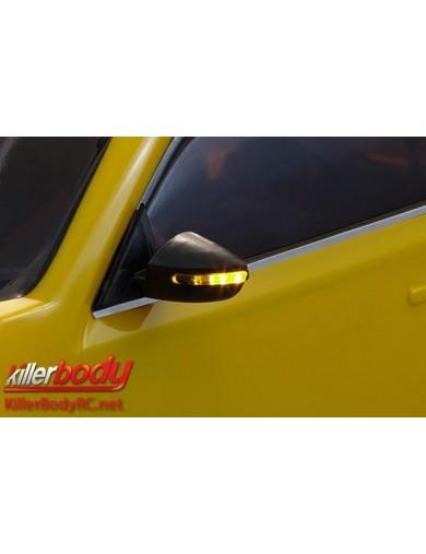 Retrovisores con Leds para coche rc 1/10 KBD48360 Accesorios Carrocerias RC