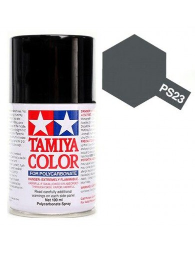 Pintura Policarbonato / Lexan PS-23 Color GUN METAL, Gris Acero, para Carrocerías R/C (TAMIYA 86023) TAMIYA 86023 Pinturas Ca...