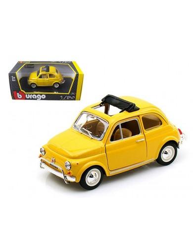 Fiat 500 L 1968. Miniatura Metal Escala 1/24 (BBURAGO 22099). AUTO DIECAST BBURAGO 22099
