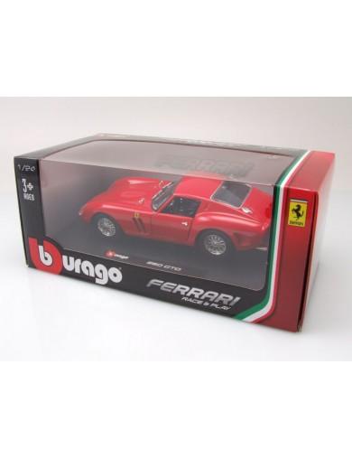 Ferrari 250 GTO. Miniatura Metal Escala 1/24 (BBURAGO 26018). AUTO DIECAST BBURAGO 26018